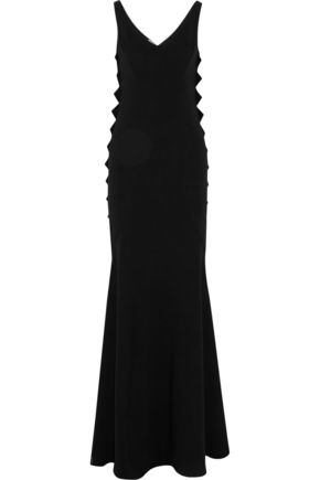 BOUTIQUE MOSCHINO Stretch-crepe maxi dress