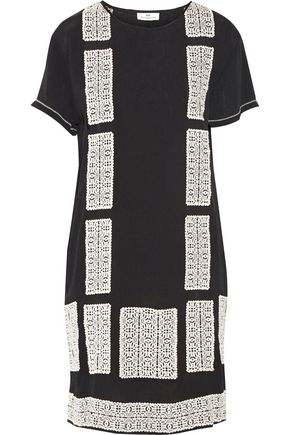 DAY BIRGER ET MIKKELSEN Motivi embroidered crepe mini dress