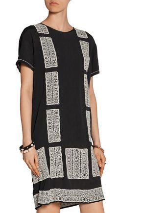 DAY BIRGER ET MIKKELSEN Motivi embroidered crepe mini dress