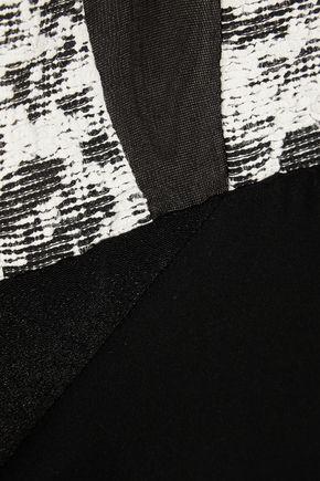 NARCISO RODRIGUEZ Paneled silk mini dress