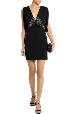 ANTONIO BERARDI Embellished stretch-crepe mini dress