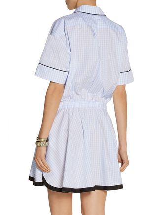 N° 21 Gingham cotton mini dress