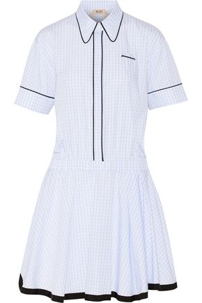 N° 21 Gingham cotton mini dress