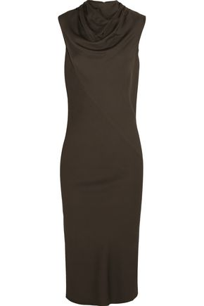 RICK OWENS Bonnie draped stretch-crepe dress
