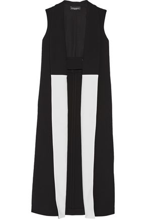NARCISO RODRIGUEZ Crepe-trimmed wool vest