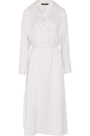 THE ROW Luid striped silk-jacquard dress
