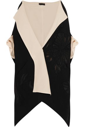 DONNA KARAN Canvas and wool-blend jacquard kimono jacket