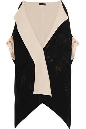 DONNA KARAN Canvas and wool-blend jacquard kimono jacket
