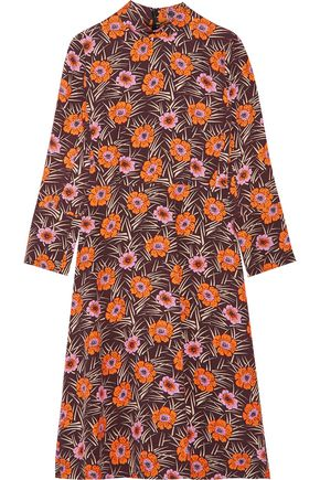 MARNI Floral-print faille midi dress