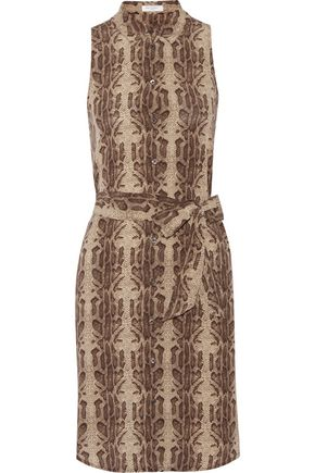 EQUIPMENT Claudia snake-print washed-silk mini dress