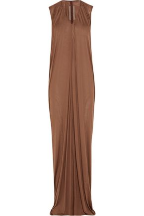 RICK OWENS Silk-jersey maxi dress
