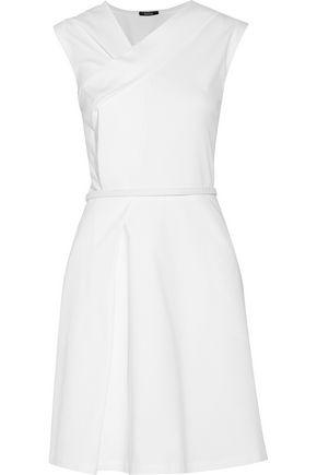 RAOUL Drew draped cotton-blend dress