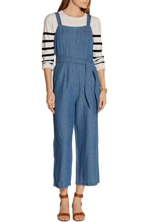 MADEWELL Cotton and linen-blend chambray jumpsuit