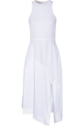 STELLA McCARTNEY Adalina satin-paneled crepe dress