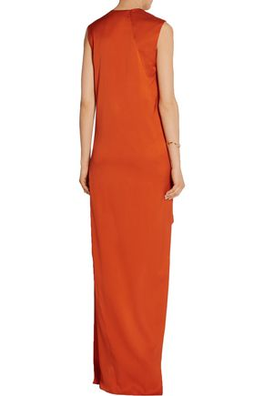 NARCISO RODRIGUEZ Asymmetric stretch-silk twill gown