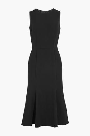 DOLCE & GABBANA Cutout stretch-crepe midi dress