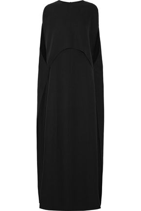 VALENTINO Convertible cape-effect silk-crepe gown