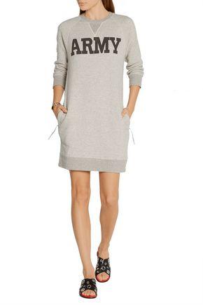 NLST Printed cotton-blend terry mini dress