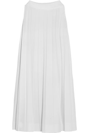 MAISON MARGIELA Pleated printed jersey-crepe dress