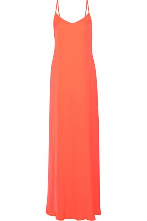TART COLLECTIONS Florence neon crepe de chine maxi dress