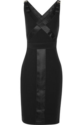 RAOUL Iora embellished satin-trimmed crepe dress