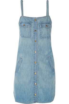 CURRENT/ELLIOTT The Strappy Perfect denim mini dress
