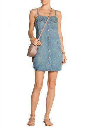 CURRENT/ELLIOTT The Strappy Perfect denim mini dress