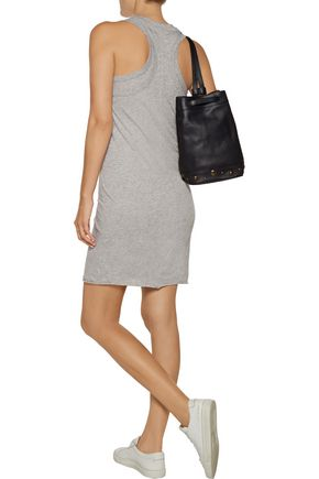 ENZA COSTA Layered Pima cotton mini dress