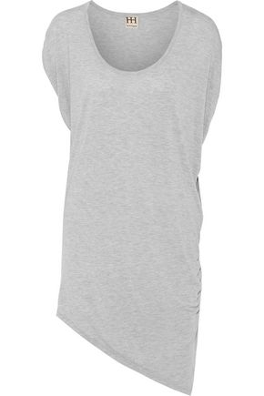 HAUTE HIPPIE Asymmetric modal-jersey mini dress