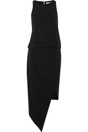 ELIZABETH AND JAMES Rowan asymmetric stretch-jersey midi dress