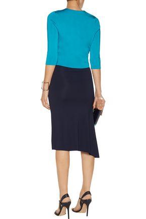 ISSA Mills metallic stretch-knit jacket