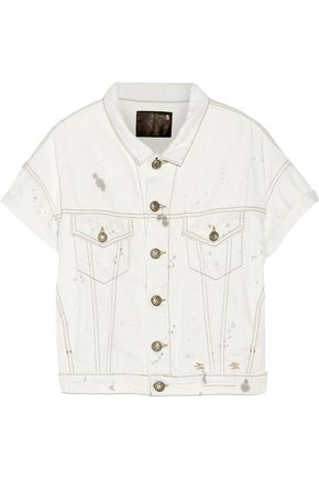 R13 Distressed denim jacket