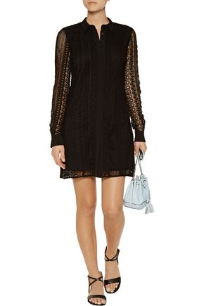 REBECCA MINKOFF Beaton crocheted cotton mini dress