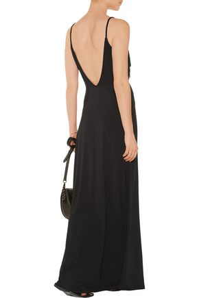 TART COLLECTIONS Bernice fringed stretch-modal maxi dress