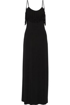 TART Bernice fringed stretch-modal maxi dress