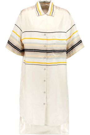 RAG & BONE Sail striped silk shirt dress