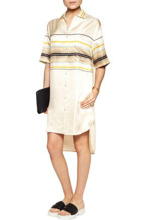 RAG & BONE Sail striped silk shirt dress