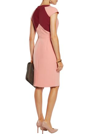 RAOUL Clementine two-tone twill dress