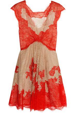 EMILIO PUCCI Two-tone lace mini dress