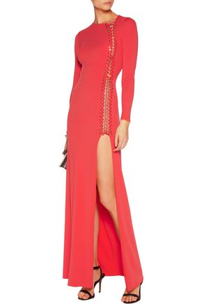 EMILIO PUCCI Lace-up stretch-jersey gown