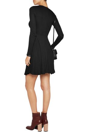 CARVEN Draped jersey mini dress