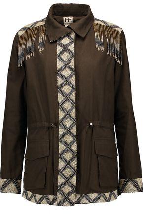 HAUTE HIPPIE Beaded cotton jacket