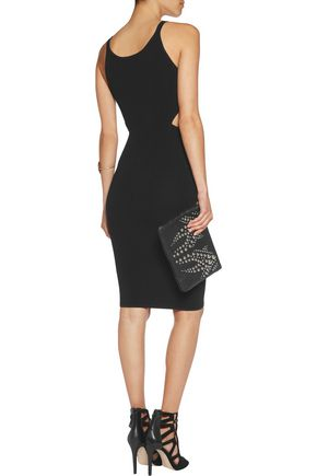 JONATHAN SIMKHAI Cutout ribbed-knit dress