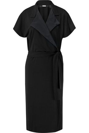 BY MALENE BIRGER Milly silk-trimmed stretch-crepe wrap dress