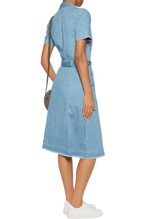 CURRENT/ELLIOTT The Jackie belted denim dress