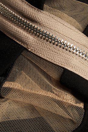 BAILEY 44 Tulle-paneled stretch-jersey mini dress