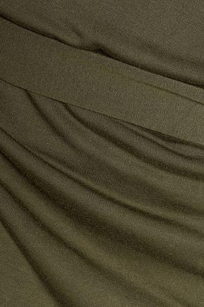 HAUTE HIPPIE Draped modal-jersey mini dress