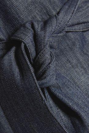 ALEXIS Marikka denim-effect cotton dress