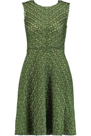 MISSONI Metallic crochet-knit mini dress
