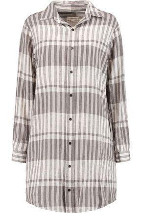 CURRENT/ELLIOTT The Prep School linen and cotton-blend shirt dress